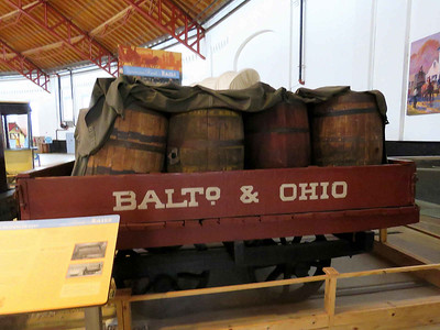 1927 replica of one of the earliest freight cars - an 1832 flour barrel gondola February 25, 2018