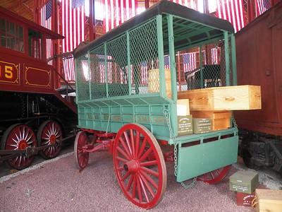 Adams Express freight delivery wagon - early 1860s - the only surviving Civil War express railway delivery wagon, found stored in a warehouse in 1962