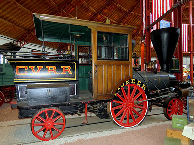 """Pioneer"" 1851 steam locomotive used for light passenger service February 25, 2018"