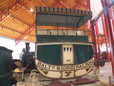 "replica of 1830 ""Ohio"" passenger coach, modeled after a stage coach car"