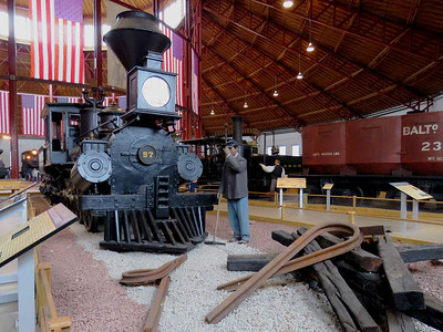 "the ""Memnon"", a steam engine built in 1848, and John Boston, an escaped slave who was a trackworker for the Union Army February 25, 2018"