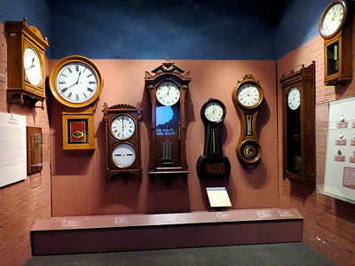 various railroad company clocks, February 25, 2018
