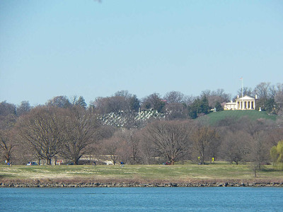 view across the river, looking at Arlington National Cemetary