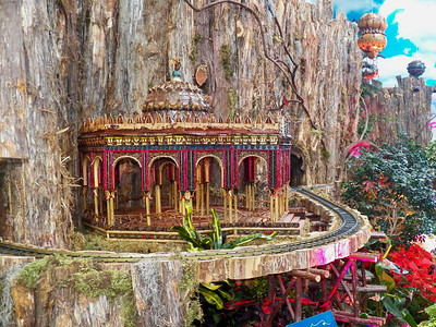 model of the Mexican Alhambra at the 1894 New Orleans Universal Exposition, US Botanic Garden