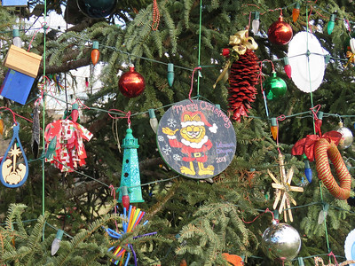 ornaments on the 2018 US Capitol Christmas tree