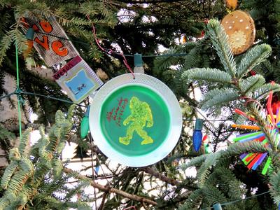 bigfoot ornament on the 2018 US Capitol Christmas tree