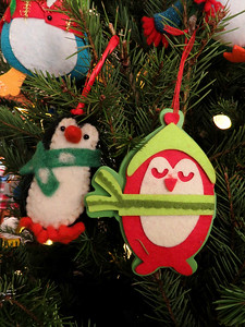 penguin Christmas ornaments, 2018