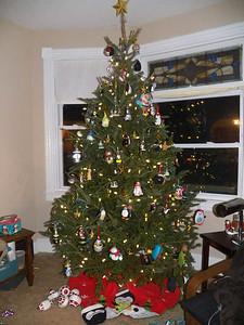 my sister's penguin Christmas tree, 2014