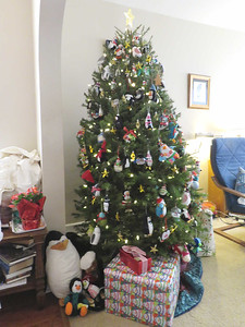 my sister's penguin Christmas tree, 2018
