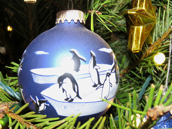 penguin Christmas ornament, 2018