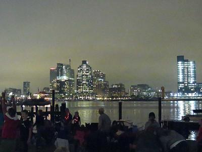 view across the harbor