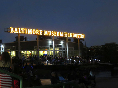 the Baltimore Museum of Industry, my now favorite place to view Baltimore's fireworks