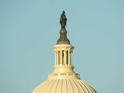 the top of the Capitol Building