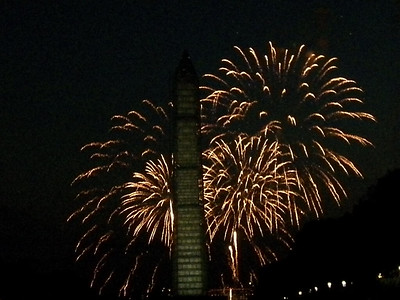 fireworks and the Washington Monument