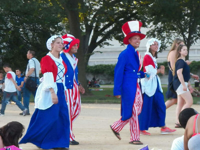 people dressed up for the 4th of July