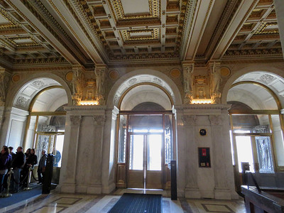 entranceway, the Thomas Jefferson Building, January 28, 2017