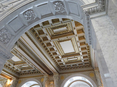 ceiling at the entrance to the Thomas Jefferson Building, January 28, 2017