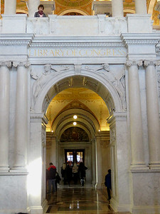 Commemorative Arch leading out of the Great Hall, Thomas Jefferson Building, January 28, 2017