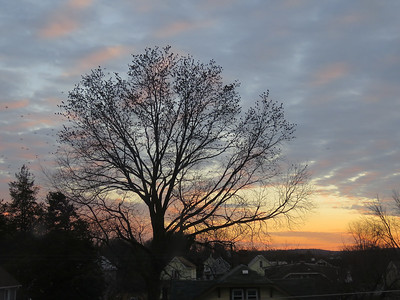 sunset near my sister's house, December 23, 2018