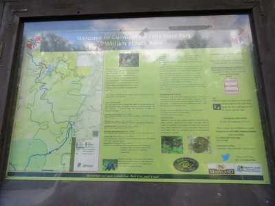 map and other info about the William Houck area of Cunningham Falls State Park, September 29,2018