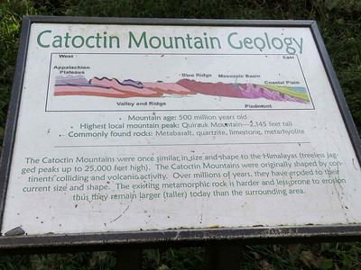 geology sign, Lower Falls trail, Cunningham Falls State Park, September 29,2018