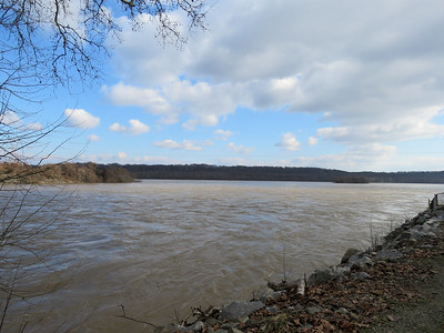 high water in the Susquehanna River, December 22, 2018