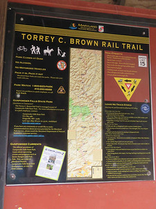 the Torrey C. Brown Rail Trail, April 15, 2018