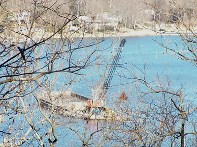 dredging in the Severn River, the Brown Property, January 2013