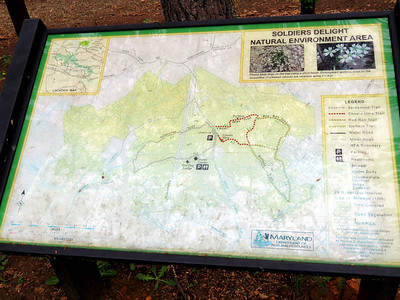 the trail map - we went around the big loop that includes pieces of the Choate Mine, Red Run, and Dolfield Trails