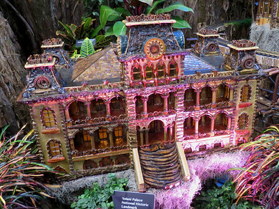 Iolani Palace model, 2016 Christmas train display