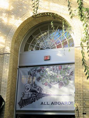 entrance to holiday train display