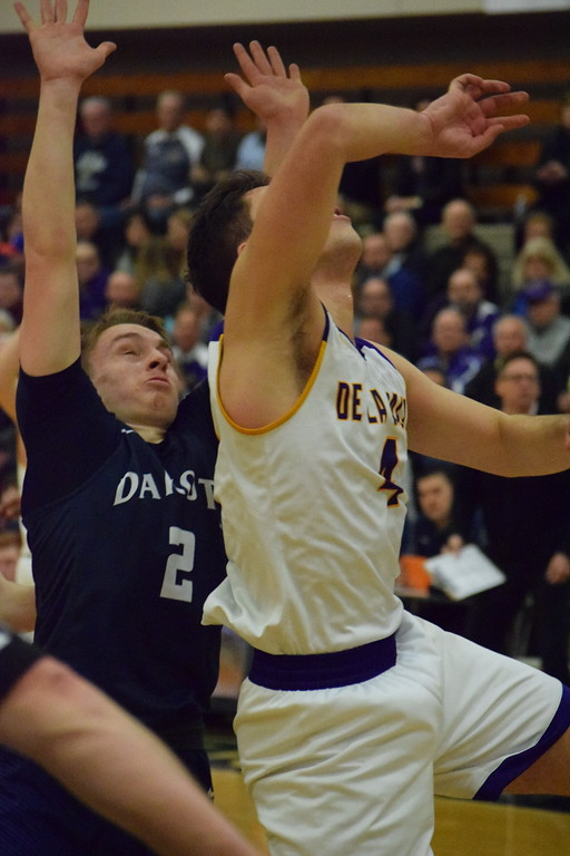. De La Salle beat Dakota, 56-51, to claim a Class A boys basketball regional championship on March 14, 2018. The Pilots will meet U-D Jesuit on Tuesday in a Class A state quarterfinal. THE MACOMB DAILY PHOTO GALLERY BY CHUCK PLEINESS
