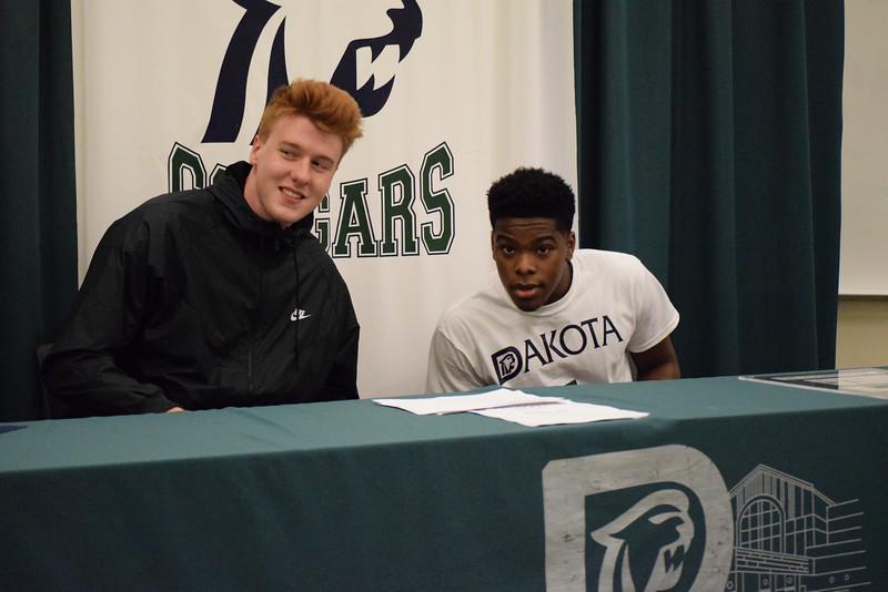 Dakota's Jack Ballantyne and Jermaine Jackson Jr. announced Monday they will play basketball next season at the University of Detroit Mercy. (MIPrepZone photo gallery by Chuck Pleiness)