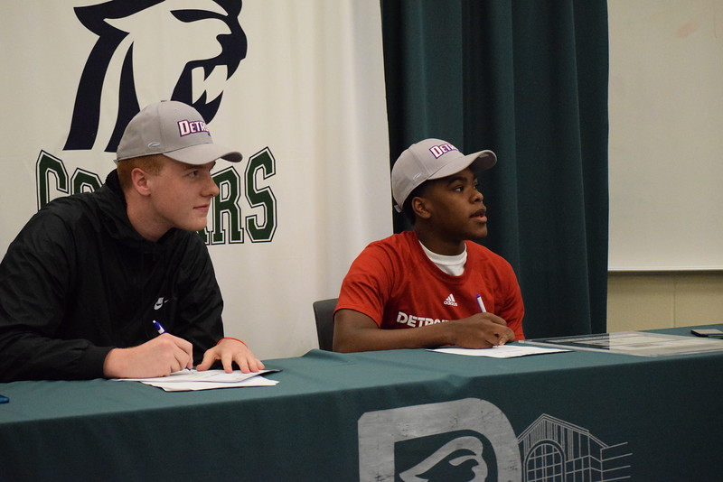 Dakota's Jack Ballantyne and Jermaine Jackson Jr. announced Monday they will play basketball next season at the University of Detroit Mercy. (MIPrepZone photo gallery by Chuck Pleiness)