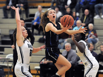 Lauren Debeau (2) of Eisenhower puts up a shot during the match between Dakota and Eisenhower on January 11, 2019. THE MACOMB DAILY PHOTO GALLERY BY DAVID DALTON