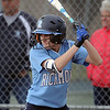 Carley Barjakarovich  (1) of Richmond at bat during the scrimage between Richmond and Dakota on April 11, 2017.  (MIPrepZone photo gallery by David Dalton)