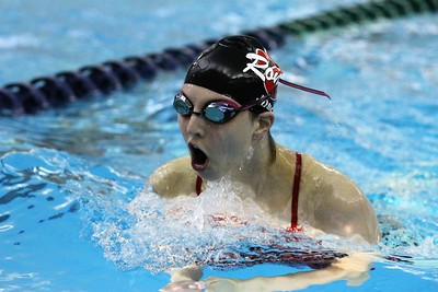 Paige Jones of Romeo during the 200 yard IM. Romeo traveled to Dakota for a MAC White division contest on October 3, 2017. Macomb Daily photo gallery by George Spiteri.