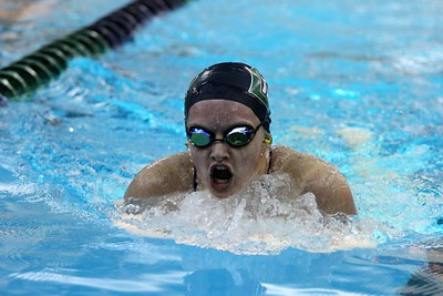 Juliana Witt of Dakota during the 200 yard IM. Romeo traveled to Dakota for a MAC White division contest on October 3, 2017. Macomb Daily photo gallery by George Spiteri.