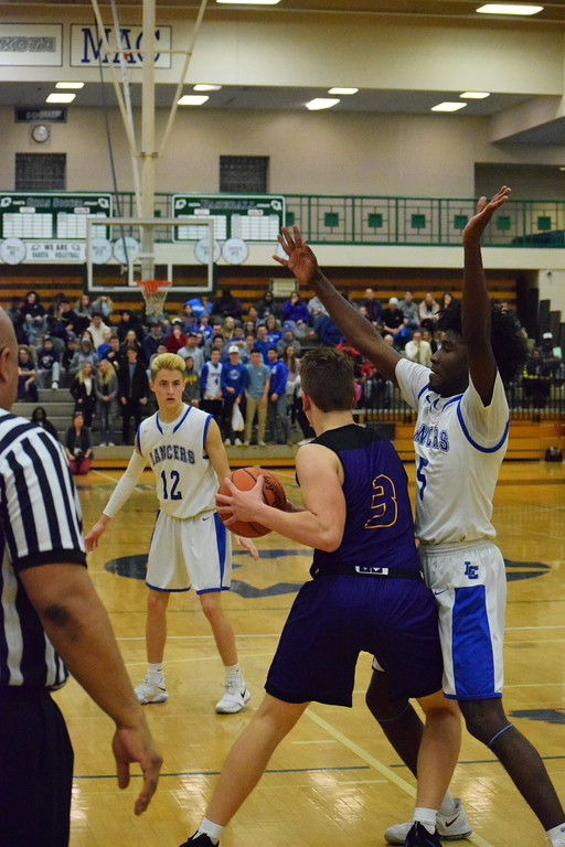 . De La Salle beats L\'Anse Creuse, 75-60, in a Class A regional boys basketball semifinal at Dakota on March 12, 2017. THE MACOMB DAILY PHOTO GALLERY BY CHUCK PLEINESS