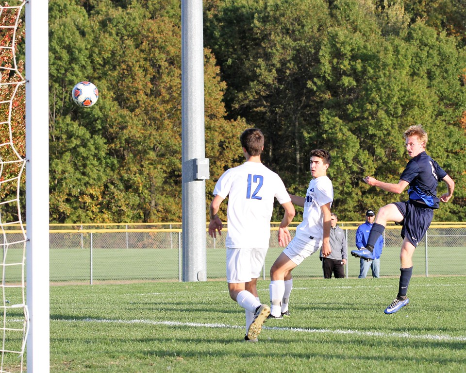 . Eisenhower gets past Dakota by a score of 2-1 to capture the district title hosted at Anchor Bay on Friday, October 20, 2017. Macomb Daily photo gallery by George Spiteri.