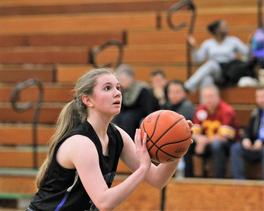 Eisenhower traveled to Grosse Pointe North for a MAC Red girls basketball game on January 8, 2019. Digital First Media photo gallery by George Spiteri.