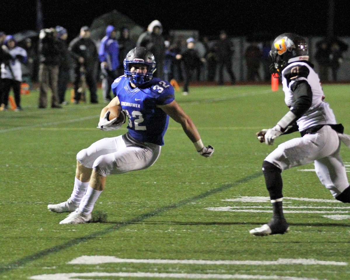 Eisenhower continues to roll with a 52-0 win over Utica on Friday, October 27, 2017. Macomb Daily photo gallery by George Spiteri.