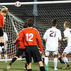 Johnny Aisthorpe (17) just misses heading the ball in the net. Ford hosted Chippewa Valley in boys soccer Monday night and ended with a final score of 3-3. (MIPrepZone photo gallery by Jon Kohlmann).