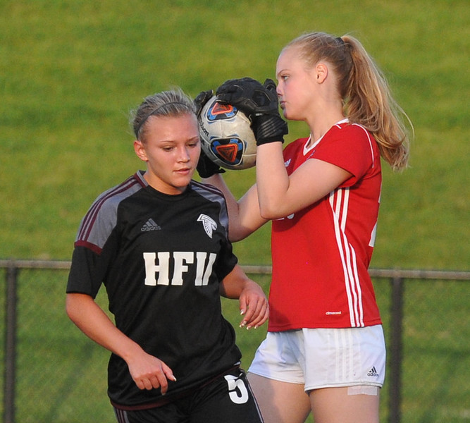 The Henry Ford Falcons lost to the Grand Blanc Bobcats 2-1 in the MHSAA D1 Semi-final held on Wednesday June 14, 2017 at Stoney Creek High School.  (MIPrepZone photo by Ken Swart)