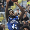 Elijah Peguese (44) of L'Anse Creuse puts up a shot during the match between L'Anse Creuse and L'Anse Creuse North on December 9, 2016.(MIPrepZone photo gallery by David Dalton)