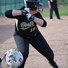 Emily Bliss hit a two-run homer for L'Anse Creuse North (MIPrepZone photo gallery by Chuck Pleiness)