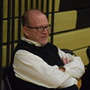 Who can blame L'Anse Creuse North coach Bob Johnston for smiling? His Crusaders opened the new season with a 46-35 victory over St. Clair Thursday night. (MIPrepZone photo gallery by Jim Evans)