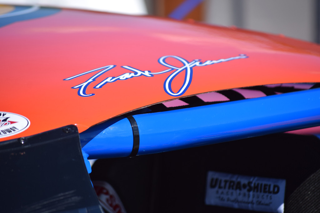 . The signature of Frank Jiovani is inscribed on the Harrison Township driver\'s Late Model.