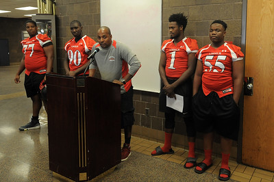 Darrius Alexander comments on the upcoming season at the MAC media day gathering at Chippewa Valley.