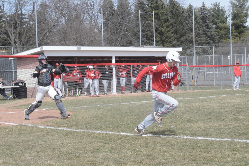 . Romeo defeated Lutheran North 5-4 in the first game of a non-league doubleheader Saturday, April 21. THE MACOMB DAILY PHOTO GALLERY BY GEORGE POHLY